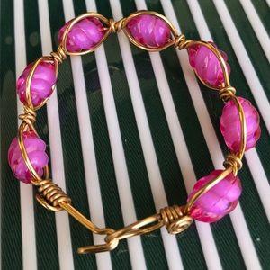 Jewelry - Ladies Charm Pink Wired Handmade Brqcelet